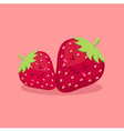 Cute Strawberry Fruit Mascot vector image vector image