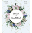 delicate wedding invitation with ranunculus vector image vector image