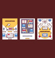 education banners high vector image