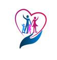 family care symbol icon vector image