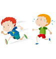 Fast runner and slow runner vector image vector image