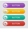 flat buttons with clip icon vector image vector image
