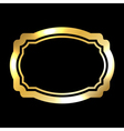 Gold frame Beautiful simple golden black style vector image
