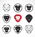 group of an lion head design vector image vector image