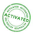 grunge green activated rubber seal stamp on white vector image