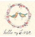 Hello my love card vector image