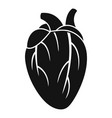human heart icon simple style vector image vector image