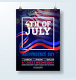 independence day of the usa party flyer vector image vector image