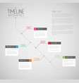 infographic diagonal timeline report template vector image vector image
