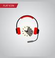 isolated earphone flat icon headphone
