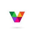 Letter V mosaic logo icon design template elements vector image vector image