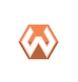 letter w business logo vector image