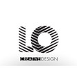 lo l o lines letter design with creative elegant vector image vector image
