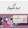 Logos and identification Business card banner vector image vector image