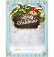 Merry christmas card Eps 10 vector image