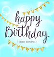 modern hand drawn lettering happy birthday vector image vector image