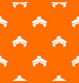 office table pattern orange vector image vector image