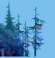 part of a cartoon forest with fir trees vector image vector image