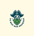 pirate hop logo vector image