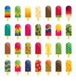 popsicle ice cream flat vector image vector image