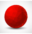 Red Geometric Ball vector image vector image