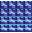 Retro seamless royal blue pattern vector image