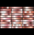 rose gold gradients vector image vector image