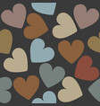 seamless pattern with cute hearts vector image