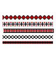 seamless pixelated borders vector image