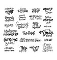 set cinema movie film doodles and trendy vector image vector image