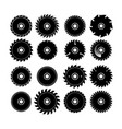 set different circular saw blades vector image vector image