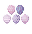set of balloons helium isolated icon vector image vector image