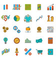 set of stock forex icons finance investing icon vector image