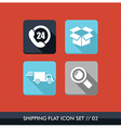 Shipping flat icons set vector image vector image
