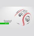 silhouette of a baseball ball vector image vector image
