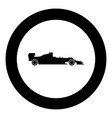 silhouette of a racing car icon black color in vector image vector image