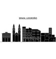 spain logrono architecture city skyline vector image
