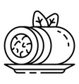 Spinach roll icon outline style