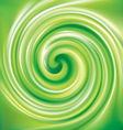 spiral liquid surface light green color vector image