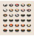 Sushi set eps10 format vector image vector image