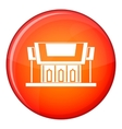 Thailand Temple icon flat style vector image