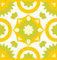 tile green decorative floor tiles pattern vector image vector image
