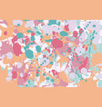 turquoise red pink orange ink splashes background vector image vector image