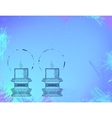 Two highly ornamental candles on watercolor vector image
