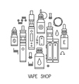 Vape icons in thin line vector image vector image