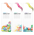 web banners with floral vector image vector image