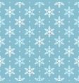 white and blue snowflakes seamless pattern vector image
