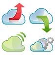 Cloud Icon Symbol Design Set vector image