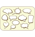 Set of comic bubbles and elements with shadows vector image
