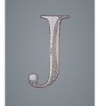 Abstract letter J vector image